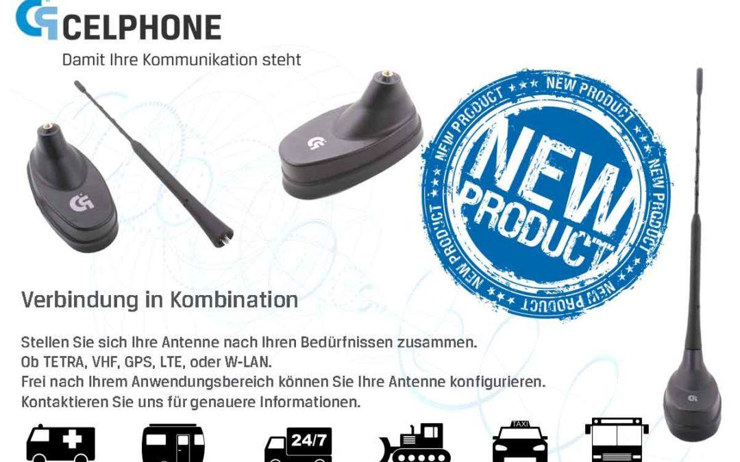 KOMBIANTENNE LTE/GPS/W-LAN mit M5 Gewinde für TETRA/VHF/UHF